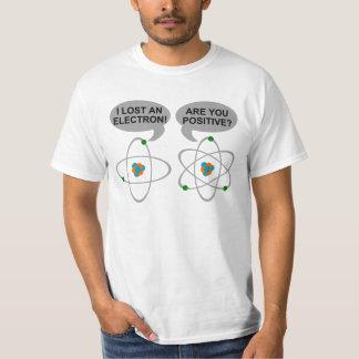 Perdí una camiseta nerdy divertida del electrón camisas