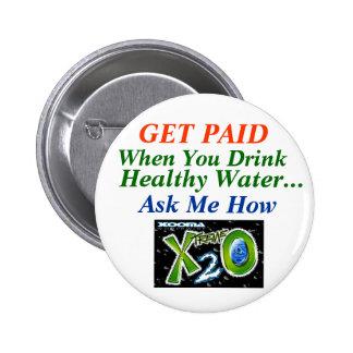 Pérdida de agua sana pin redondo de 2 pulgadas