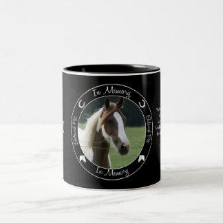- Pérdida de caballo - foto de encargo conmemorati Taza