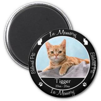 - Pérdida de gato - foto de encargo conmemorativa/ Imán Redondo 5 Cm