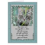 Pérdida de la condolencia del mascota de gato felicitacion