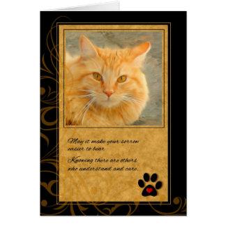 Pérdida de la condolencia del mascota de gato tarjeta de felicitación