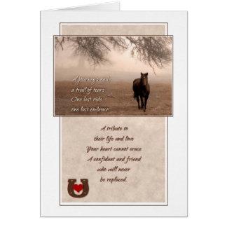 Pérdida de la condolencia del mascota de tarjeta de felicitación