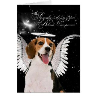 Pérdida de la condolencia del mascota de un ángel tarjeta de felicitación
