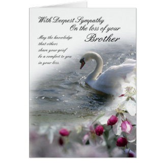 Pérdida de la tarjeta de condolencia de Brother