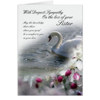 Pérdida de la tarjeta de condolencia de hermana