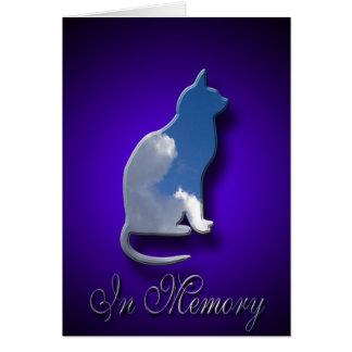 Pérdida de la tarjeta de condolencia del gato el |