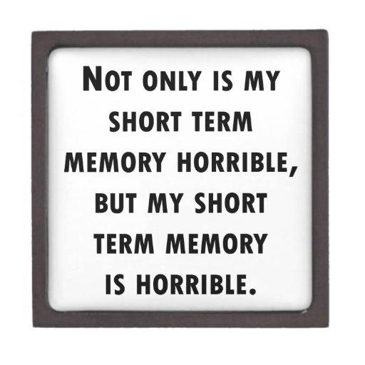 Pérdida de memoria a corto plazo caja de recuerdo de calidad