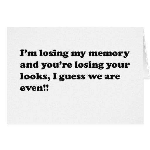 pérdida de memoria tarjeta