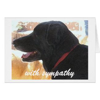 Pérdida de perro - condolencia del mascota tarjeta pequeña