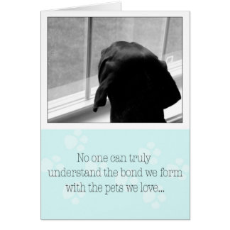 Pérdida de perro de la tarjeta de condolencia del