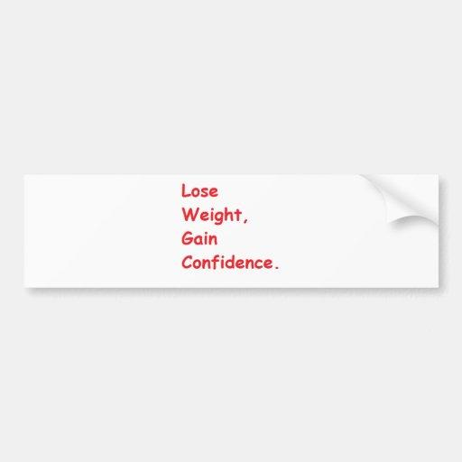 pérdida de peso etiqueta de parachoque