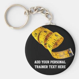 Pérdida de peso personal amarilla del instructor d llaveros personalizados