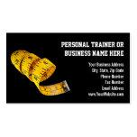 Pérdida de peso personal amarilla del instructor tarjetas personales