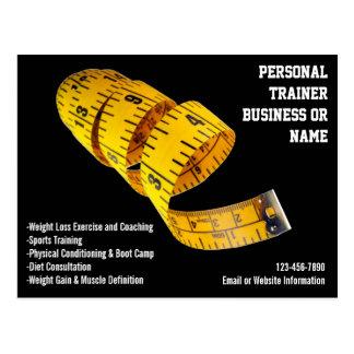 Pérdida de peso personal amarilla del instructor tarjetas postales