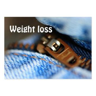 Pérdida de peso tarjetas personales