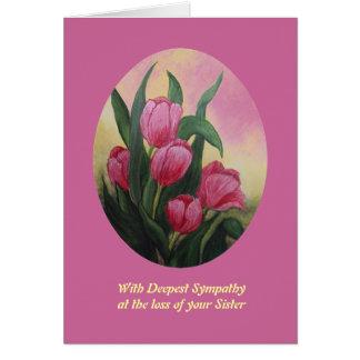 Pérdida de tarjeta de condolencia de la hermana