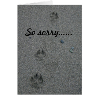 Pérdida de tarjeta de condolencia del mascota