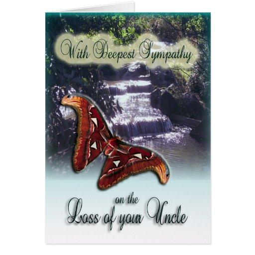 Pérdida de tío - con la tarjeta de condolencia más
