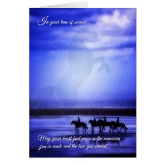 Pérdida de un caballo - paseo de la condolencia tarjeta de felicitación