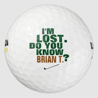 perdido-ball del golfista pack de pelotas de golf