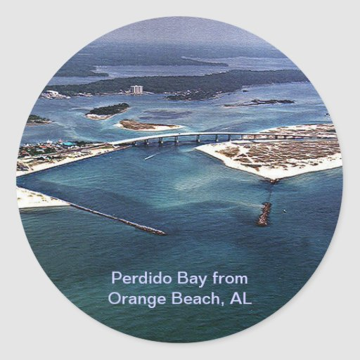 Perdido Bay from Orange Beach, AL Sticker