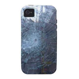 Perdido -- con el vidrio y el mapa quebrados Case-Mate iPhone 4 fundas