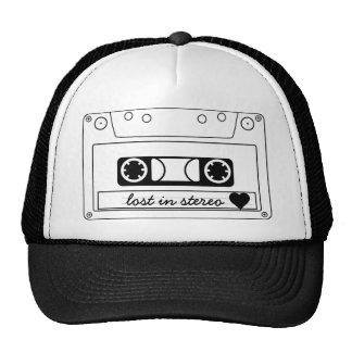 Perdido en cinta de casete clásica estérea gorras