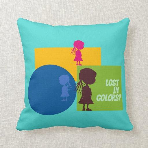 ¿Perdido en colores? Almohadas