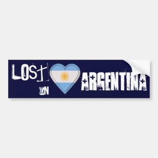 Perdido en corazón de la bandera de la Argentina Pegatina Para Auto