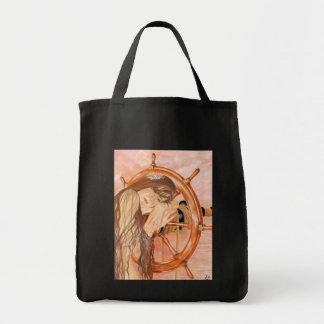 Perdido en el bolso de la sirena del mar bolsa tela para la compra