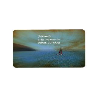 Perdido en el mar etiquetas de dirección