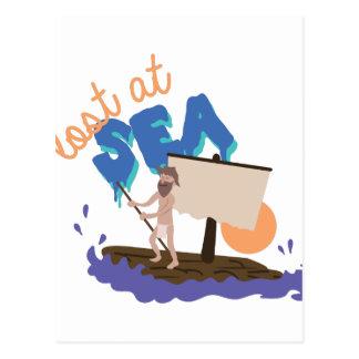 Perdido en el mar postal
