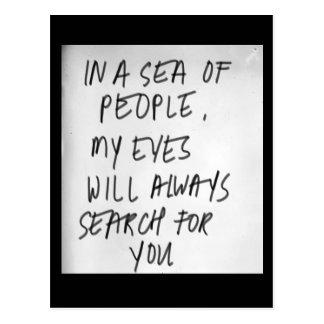 Perdido en el mar postales