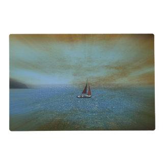 Perdido en el mar tapete individual
