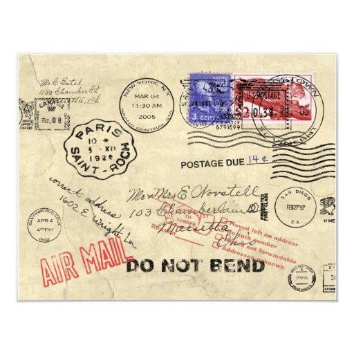 Perdido en la invitación del correo invitación 10,8 x 13,9 cm
