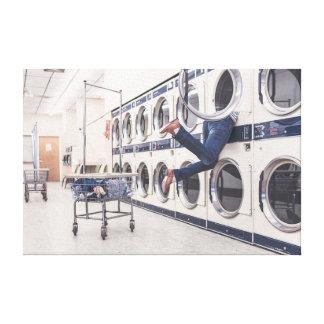 perdido en la lavandería impresion en lona