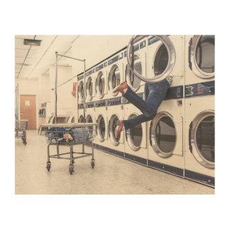 perdido en la lavandería impresiones en madera
