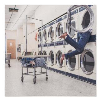perdido en la lavandería perfect poster