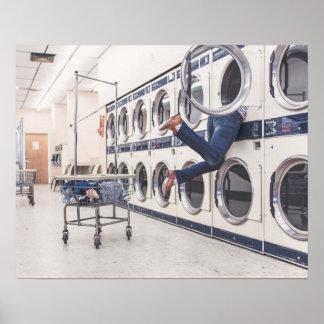 perdido en la lavandería póster