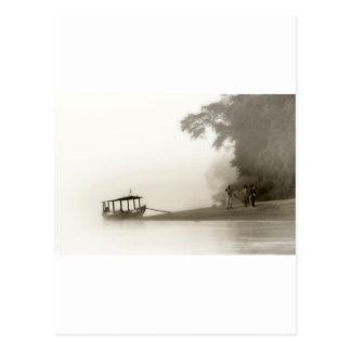 perdido en la niebla del Amazonas Tarjetas Postales