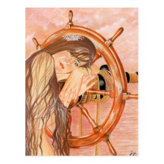Perdido en la postal de la sirena del mar