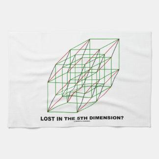 ¿Perdido en la quinta dimensión? (Humor del cubo d Toalla De Cocina