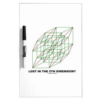 ¿Perdido en la quinta dimensión? (Humor del cubo d Pizarras Blancas De Calidad