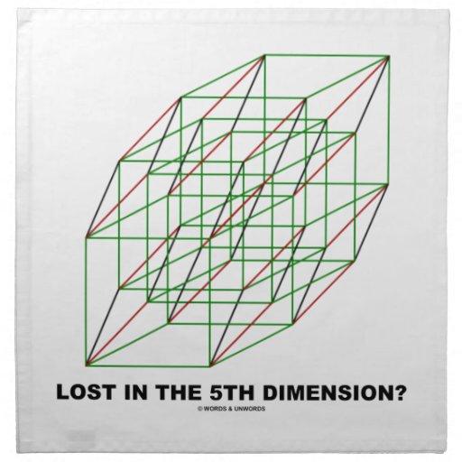 ¿Perdido en la quinta dimensión? (Humor del cubo d Servilletas De Papel
