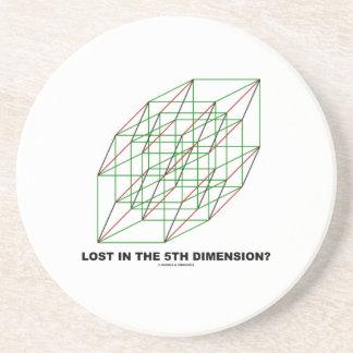 ¿Perdido en la quinta dimensión? (Humor del cubo Posavasos Diseño