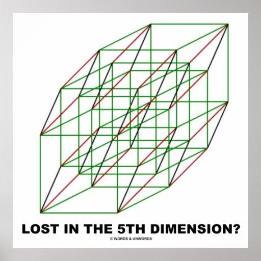 ¿Perdido en la quinta dimensión? (Humor del cubo Póster