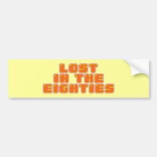 Perdido en los años ochenta etiqueta de parachoque