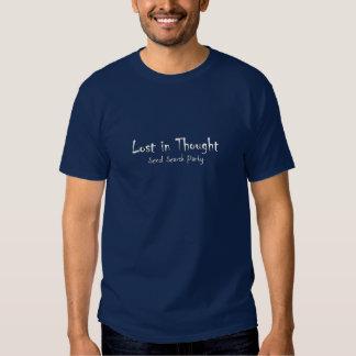 Perdido en pensamiento, envíe la camiseta del playeras