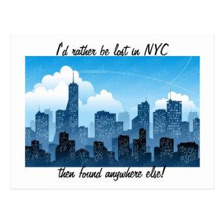 Perdido en postal de NYC